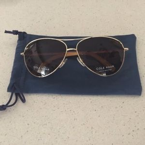 Cole Haan Womens Polarized Aviator Sunglasses NWOT